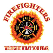 Firefighters We Fight What You Fear — Stockvektor