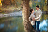 Happy couple in love in spring day. Family. relationship. man and woman on dating. Friendship — Stock Photo