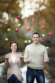 Happy couple in love in spring day. relationship. man and woman on dating. Friendship — Stock Photo