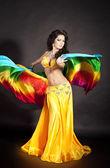 Beautiful slim woman belly dancer — Stock Photo