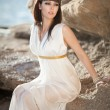 Stock Photo: Alluring womin Greek goddess style