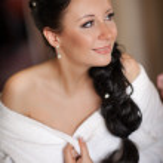 Happy sexy beautiful bride — Stock Photo #29905819