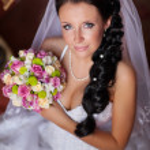 Happy sexy beautiful bride — Stock Photo #29906061