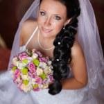 Happy sexy beautiful bride — Stock Photo #29906065