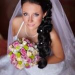 Happy sexy beautiful bride — Stock Photo #29906107