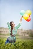 Beautiful happy woman — Stock Photo