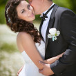 Bride and groom at wedding day — Foto Stock