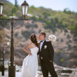 Bride and groom at wedding day — Stockfoto