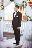 Handsome groom at wedding day — Stock Photo