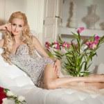 Beautiful sexy woman in luxury interior — Stock Photo #32656745