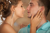 Beautiful Young Couple man and woman in love — Stock Photo
