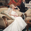 Wedding couple in luxury interior — Stock Photo