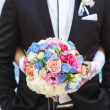 Wedding bouquet of colorful flowers — Stock Photo