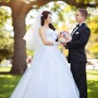 Bride and groom at wedding day — Stock Photo