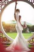 Beautiful bride in wedding day — Stock Photo