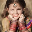 Indian girl in Indian jewelry — Stock Photo