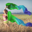 Little girl dancing latin dance — Stock Photo