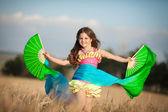 Little girl dancing latin dance — Stock Photo