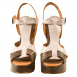 Stock Photo: Peep toe leather sandals