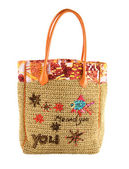Marine details basket tote — Stock Photo