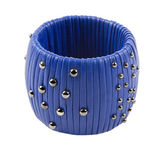 Studded blue leather bracelet — Foto Stock