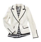 White blazer with striped t shirt — Stock Photo