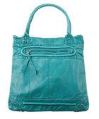 Turquoise studded leather purse — Stock Photo