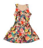 Vintage flower print dress — Stock Photo