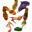 Foto Stock: Sandals fashion still life composition