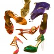 Stockfoto: Sandals fashion still life composition