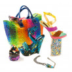 Artistic rainbow art fashion composition — Stock Photo