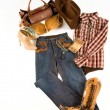 Cowgirl fashion composition — Stock Photo