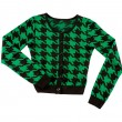 Green houndstooth check pullover — Stock Photo