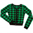 Stock Photo: Green houndstooth check pullover