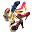 High heels fashion composition — Stock Photo