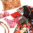 Photo: Flowery fashion composition still life