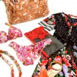 Стоковое фото: Flowery fashion composition still life