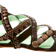 Studded leather roman sandal — Stock Photo