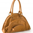 Stock Photo: Angry brown leather handbag