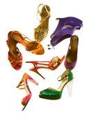 Sandalen mode stilleben komposition — Stockfoto