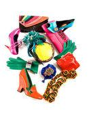 Color block still life fashion composition — Stock Photo