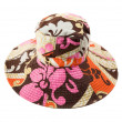 Flowery multicolor pattern floppy hat — Stock fotografie