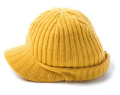 Yellow knit cap beanie — Stock Photo