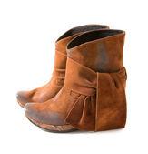 Nevyužité semišové boty s šátky — Stock fotografie