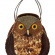 Stock Photo: Owl imitation leather tote