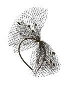 Black net headband with little pom poms — Stock Photo