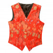 Stock Photo: Red flowery vest