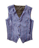 Pinstriped blue vest — Stock Photo