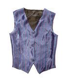 Pinstriped blue vest — Stock Photo