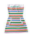 Sailor stripes strapless summer toweling mini dress — Stock Photo
